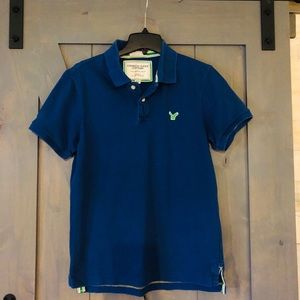 American Eagle Vintage Fit Blue with Green Polo